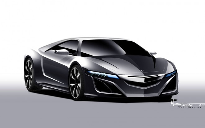 2015 Acura NSX Conceptual Rendering Front View 660x413