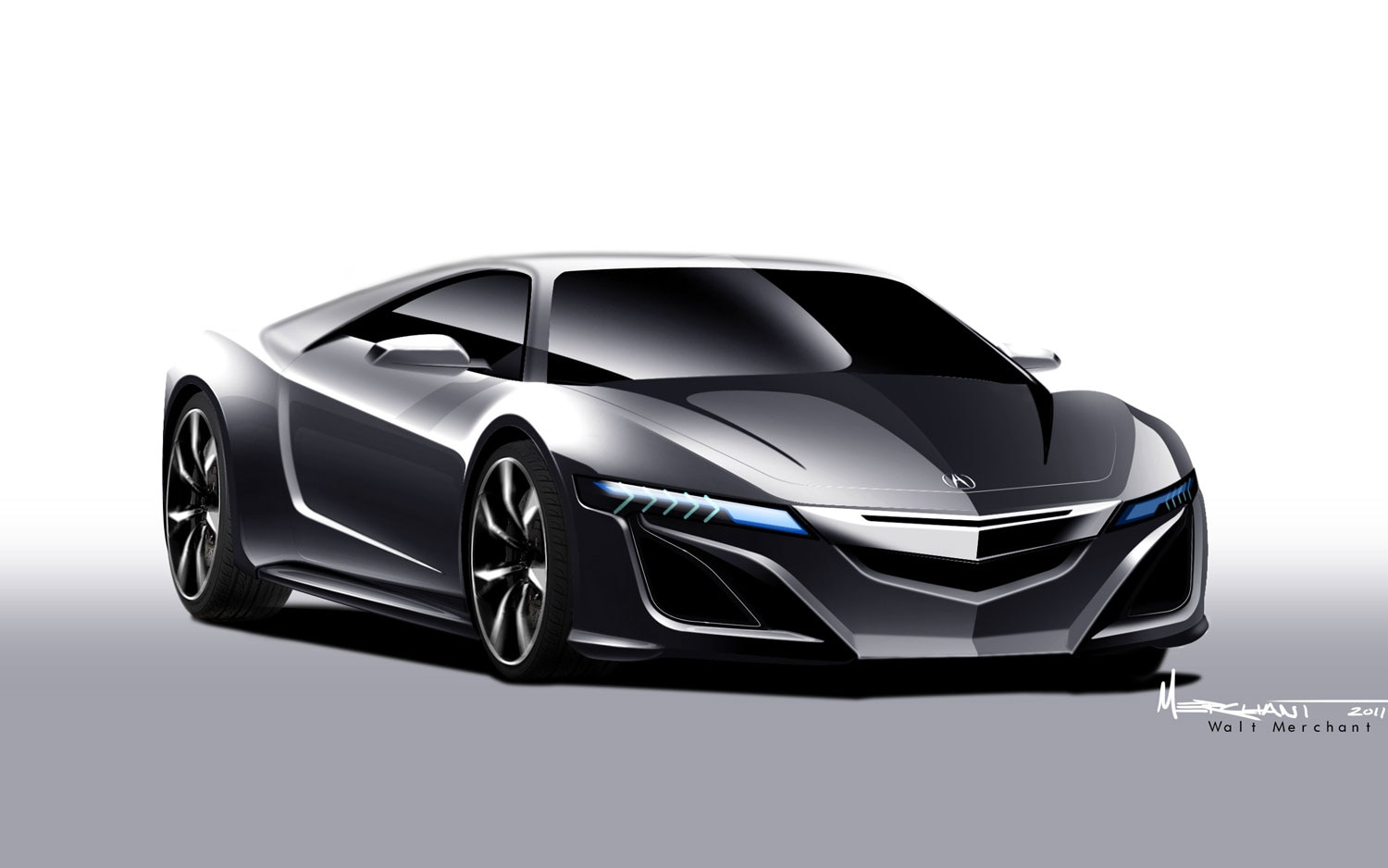 2015 acura nsx conceptual rendering front view