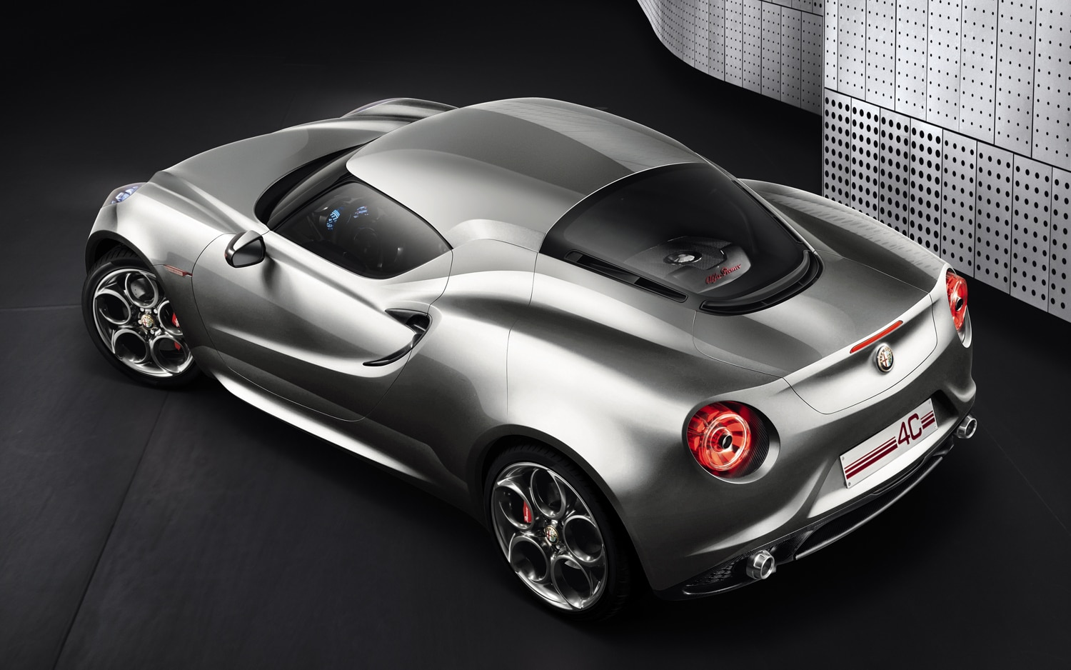 Alfa Romeo 4C Concept Silver Rear Three Quarter1