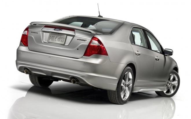 Ford Fusion Rear Silver