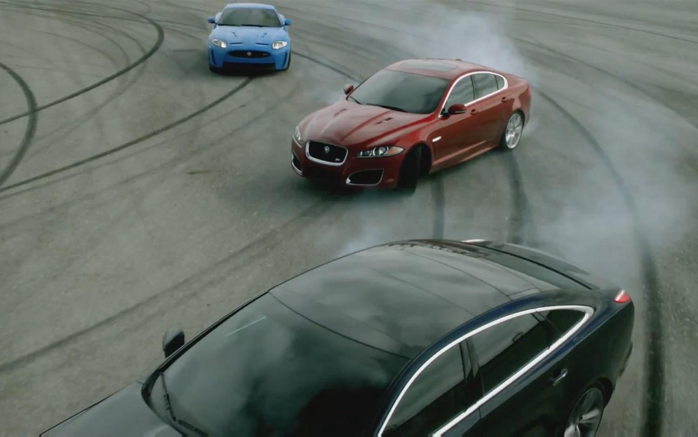 Jaguar At Play Drifting