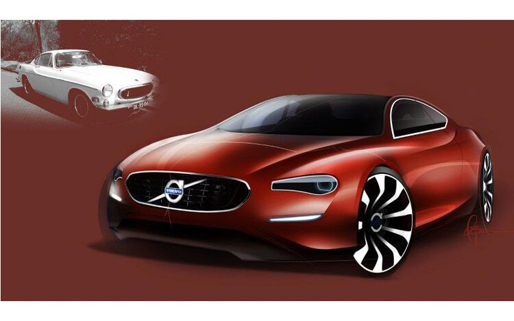 Modern Volvo P1800 Sketch Front Three Quarter1