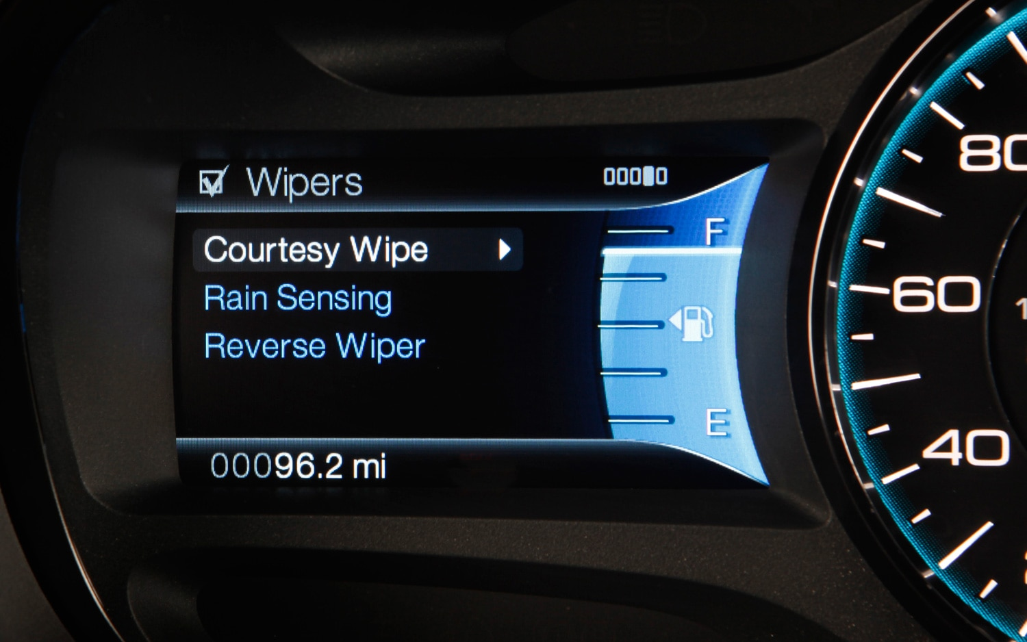 MyFord Touch Wiper Control1