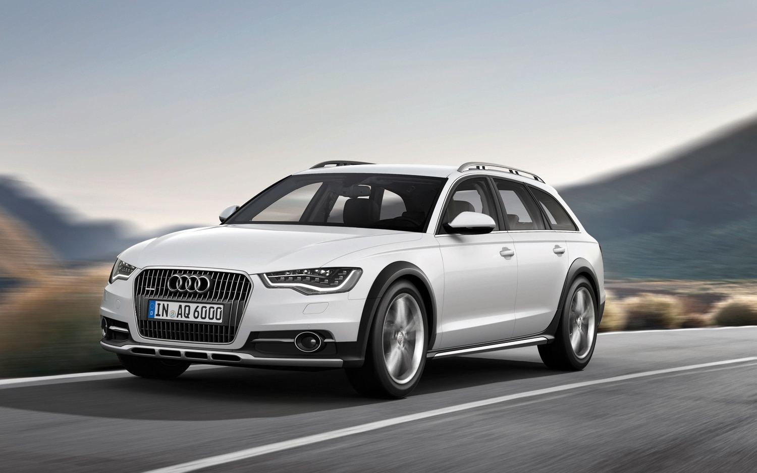 2012 Audi A6 Allroad Front Three Quarter In Motion1