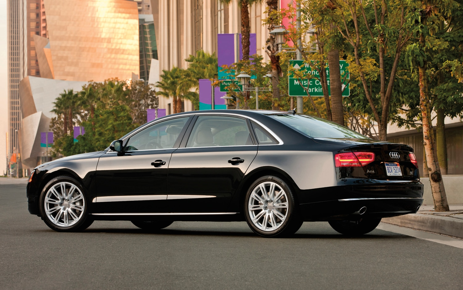 2012 Audi A8 Rear Side View1