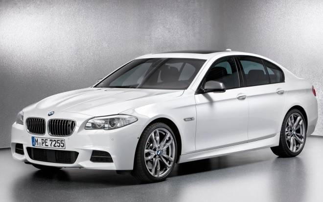 2012 BMW M550d XDrive Front Three Quarters View1 660x413