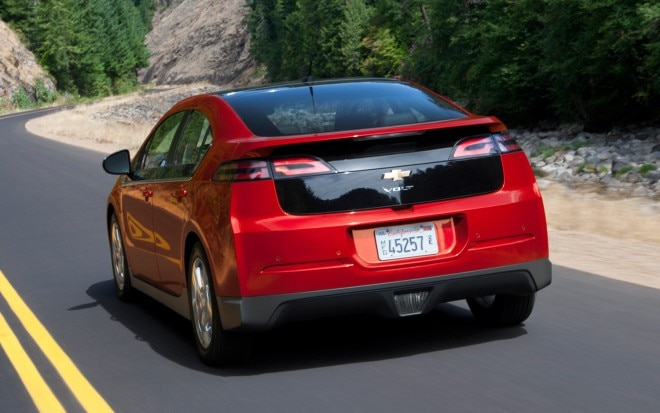 2012 Chevrolet Volt Rear Three Quarter1 660x413
