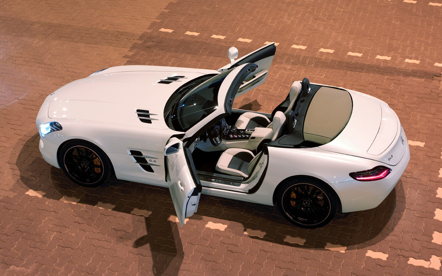 2012 Mercedes Benz SLS AMG Roadster Rear Three Quarter1