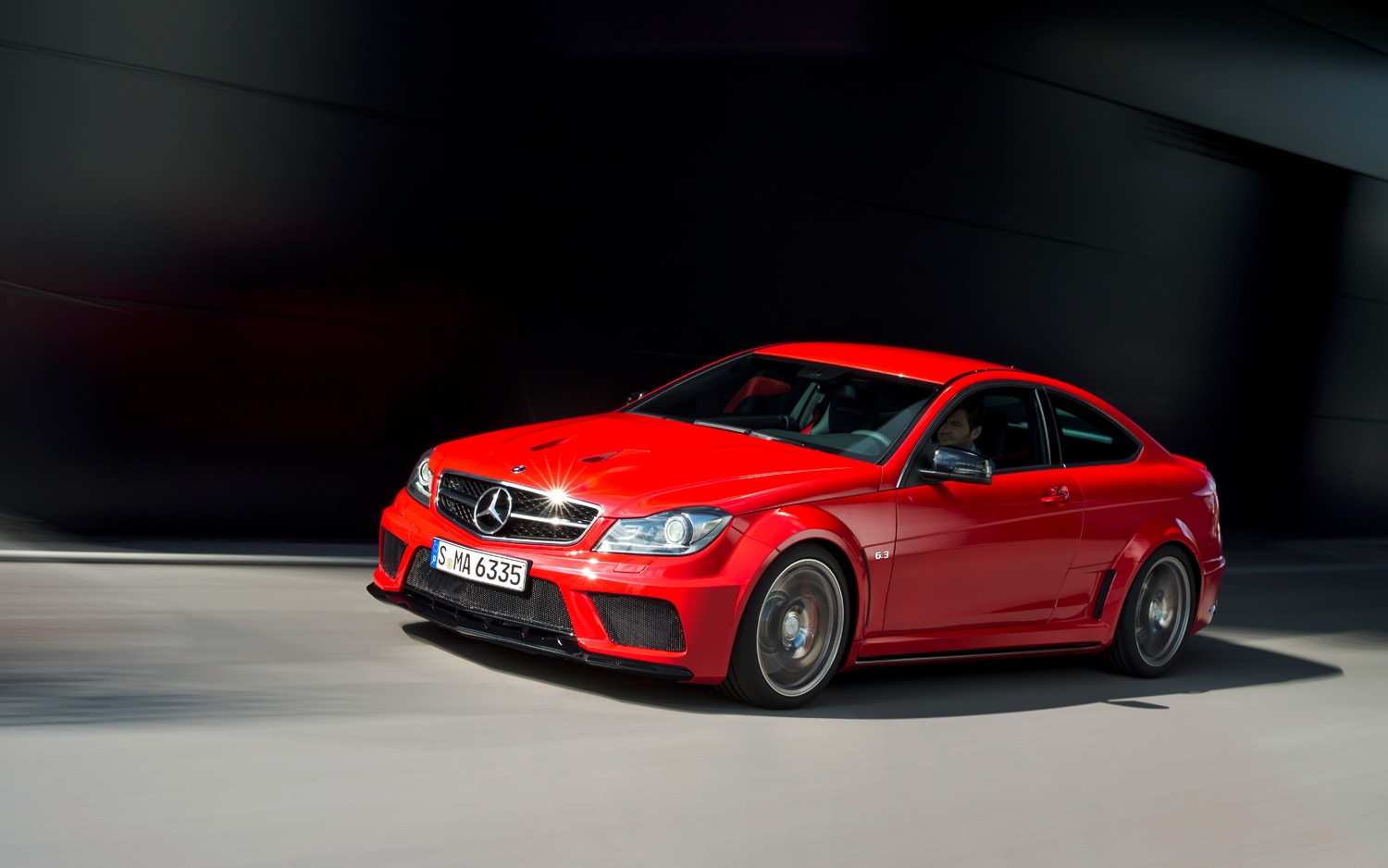 2012 Mercedes Benz C63 AMG Coupe Front Left View1