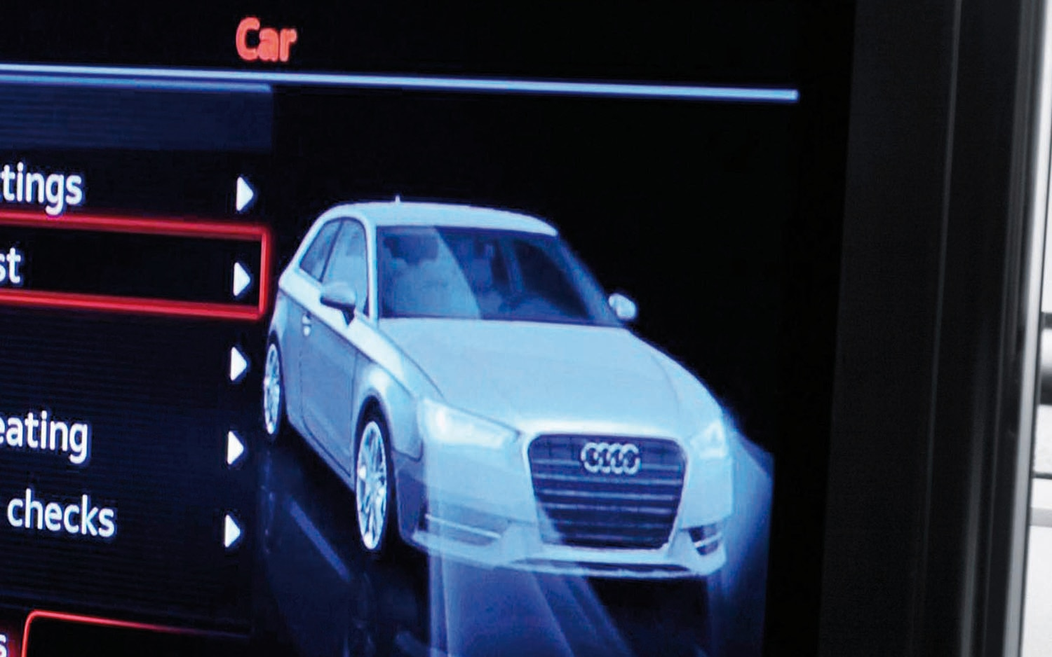 2013 Audi A3 Exterior Rendering MMI Screen1