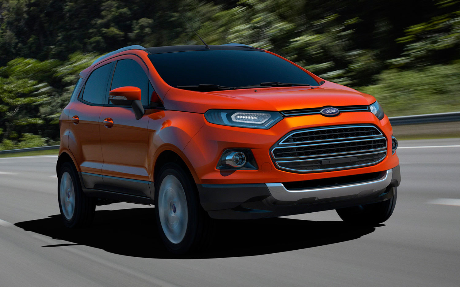 Ford EcoSport Concept Front View In Motion1