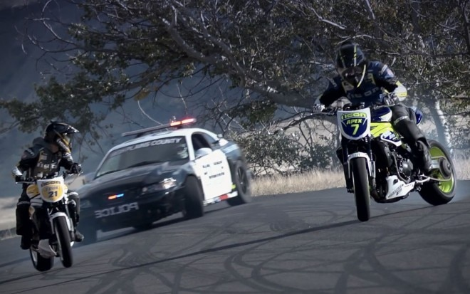 Motorcycle Cop Car Drift Battle 11 660x413