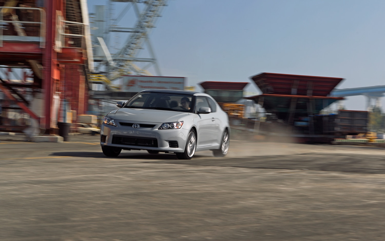 2011 Scion TC Front Three Quarters In Motion1
