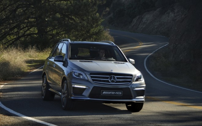 2012 Mercedes Benz ML63 AMG Front Three Quarter1 660x413
