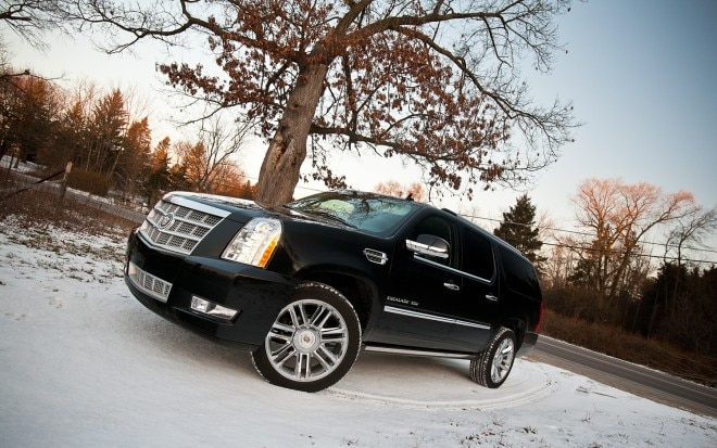 2012 Cadillac Escalade ESV Platinum Front Left Side View1 660x413