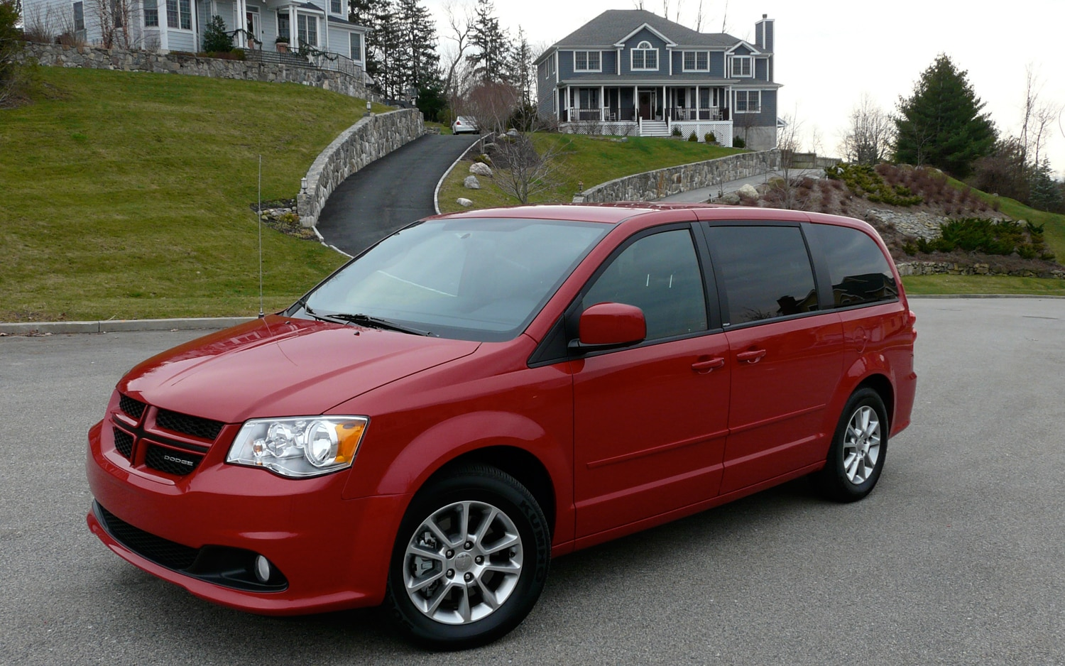 The r t sits at the top of the grand caravan