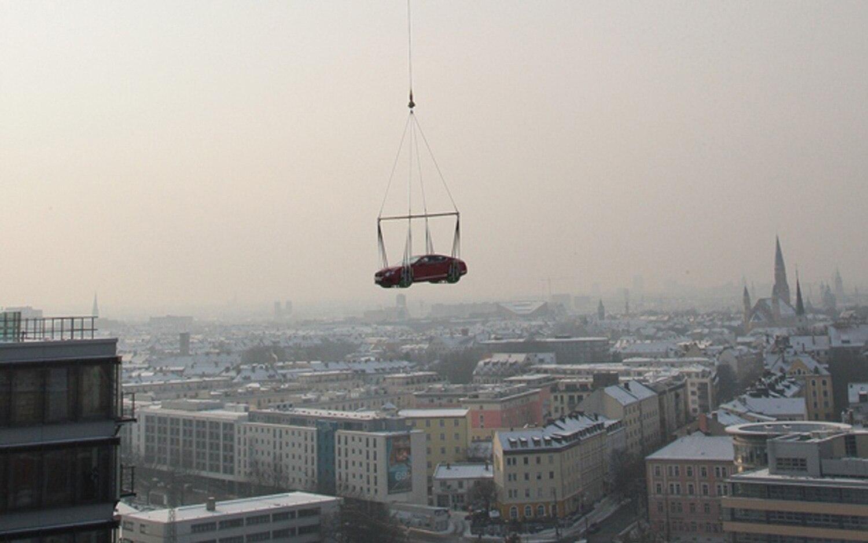 Bentley Continental GT Over Munich1