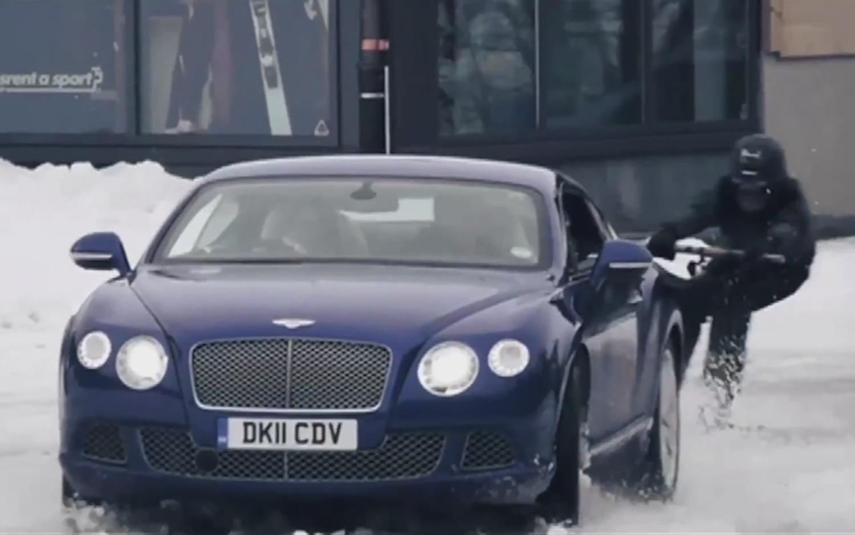 Bentley Continental GT Ski Joring 1