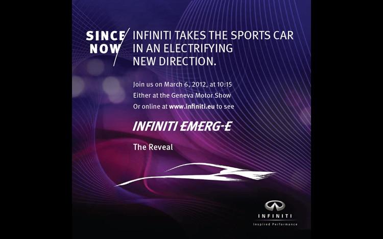 Infiniti Emerg E Announcement1