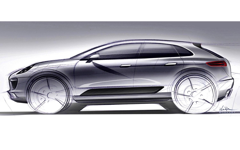 Porsche Macan Sketch Profile