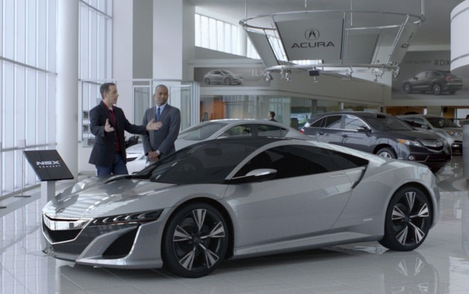 Seinfeld NSX Ad Showroom 660x413