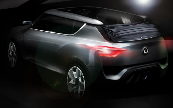 Ssangyong XIV 2 Crossover Convertible Concept Rear View Sketch1 660x413