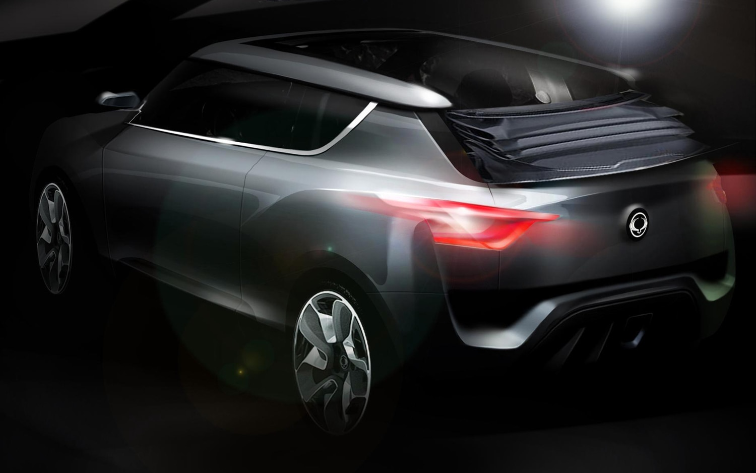 Ssangyong XIV 2 Crossover Convertible Concept Rear View Sketch1