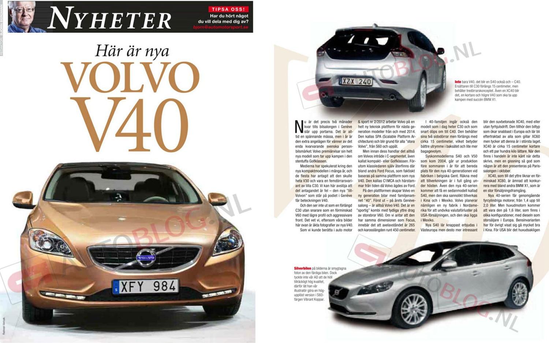 Volvo V40 Magazine Leak1