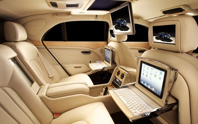 2012 Bentley Mulsanne Executive Interior Screens IPads1 660x413