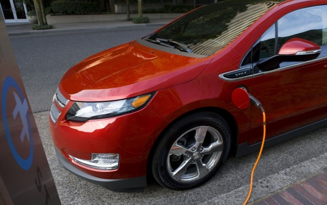 2012 Chevrolet Volt Front Three Quarter Power Cord1 660x413