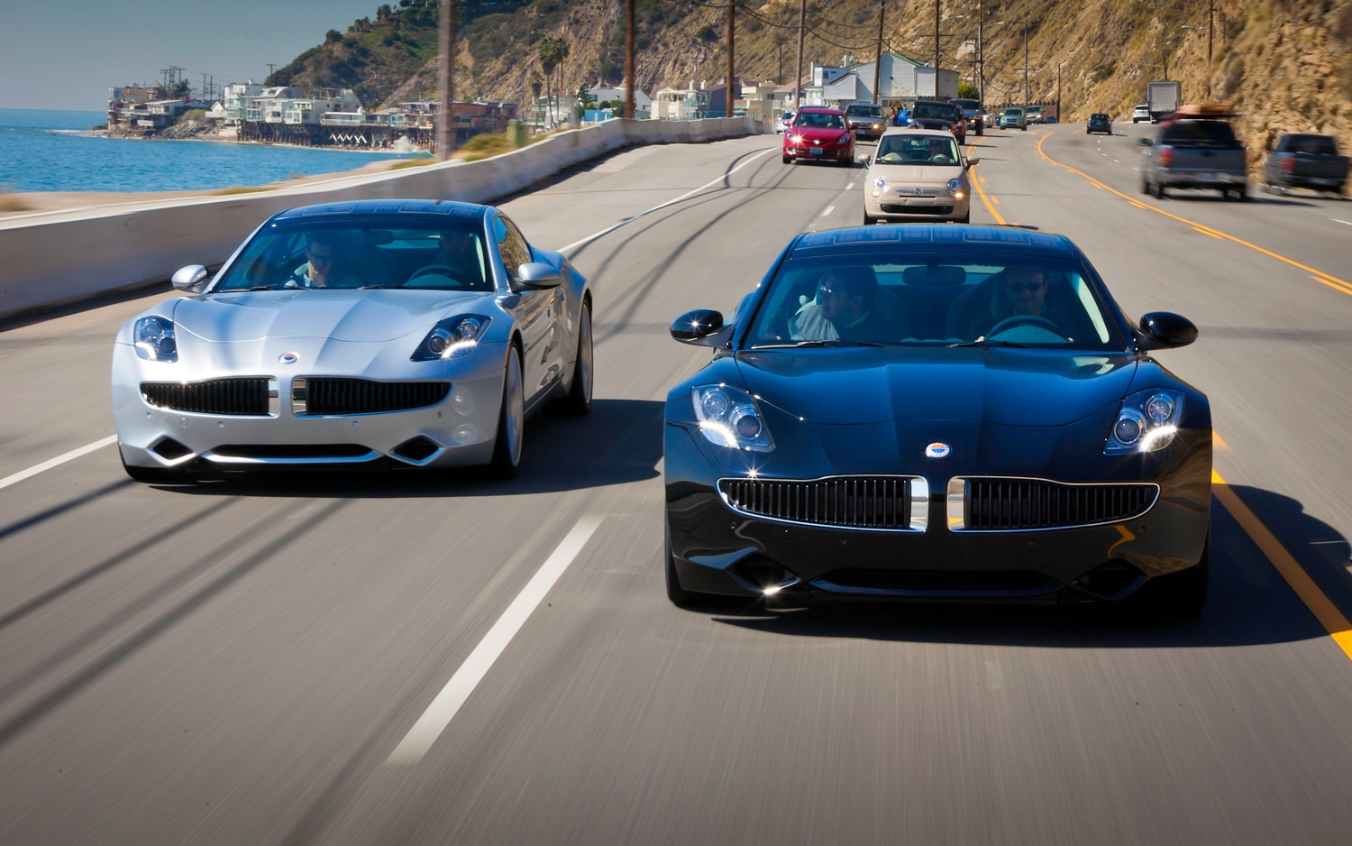 2012 Fisker Karma Front End In Motion 3