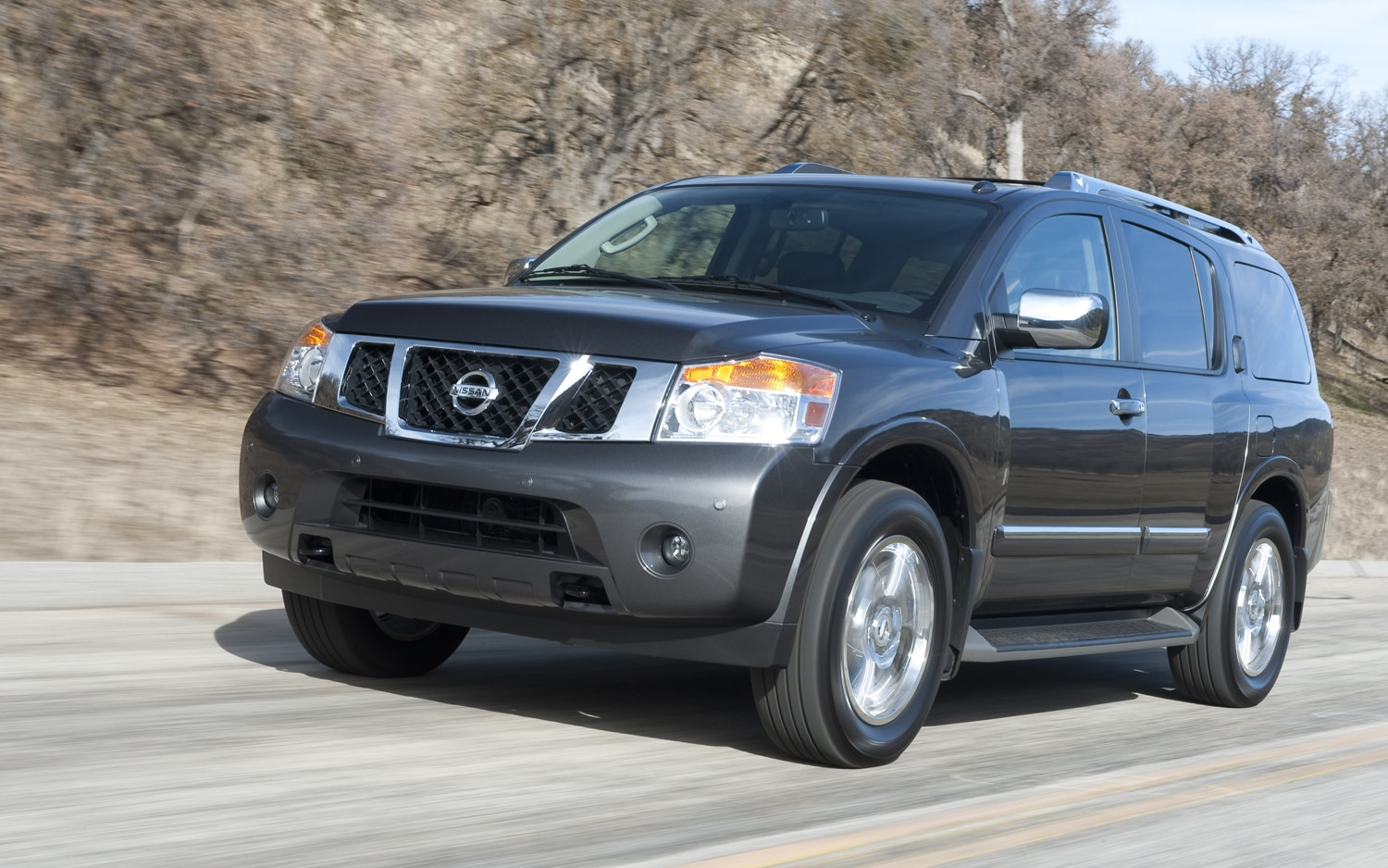 2012 Nissan Armada Front Three Quarter In Motion 21