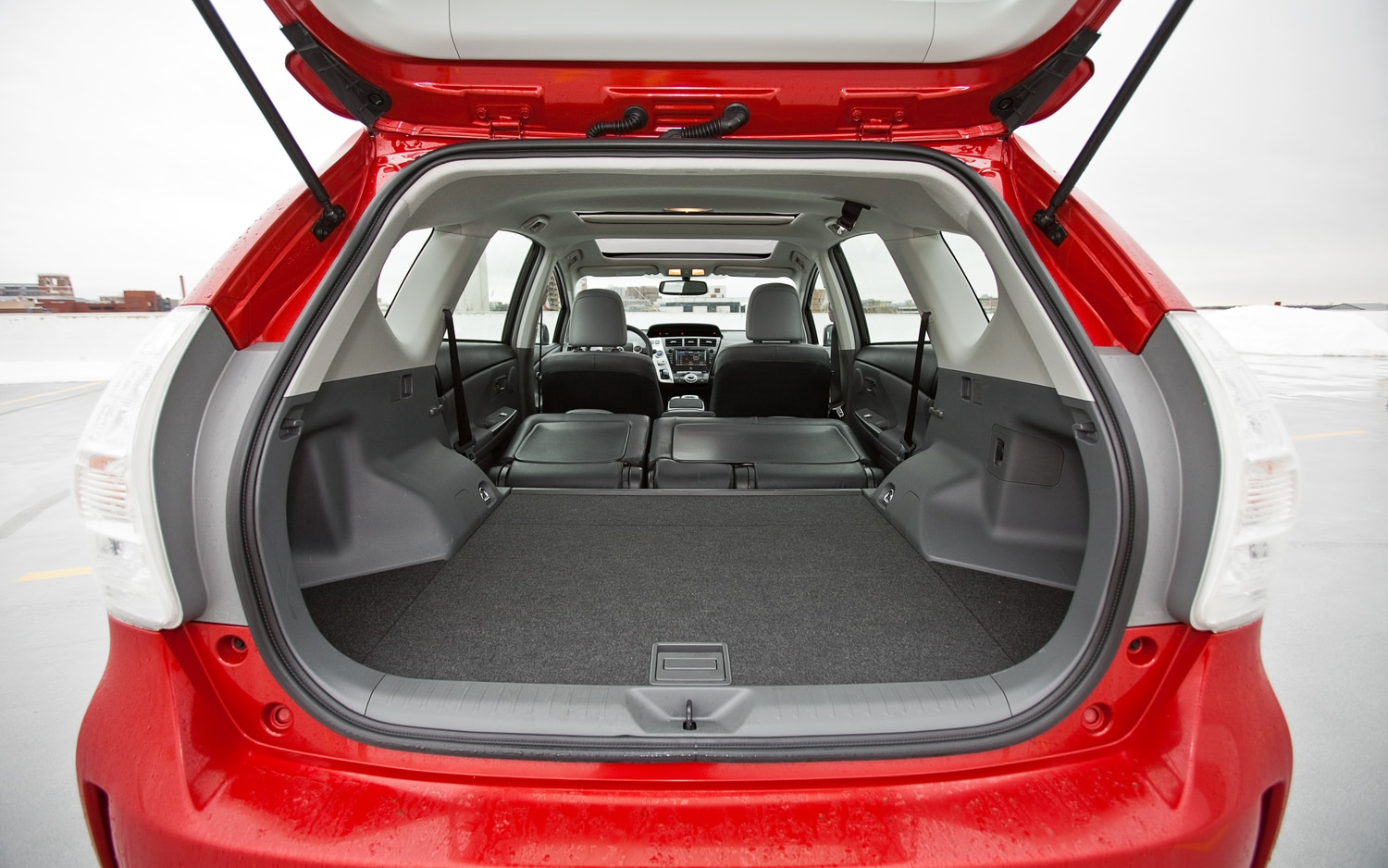 prius v battery between seats