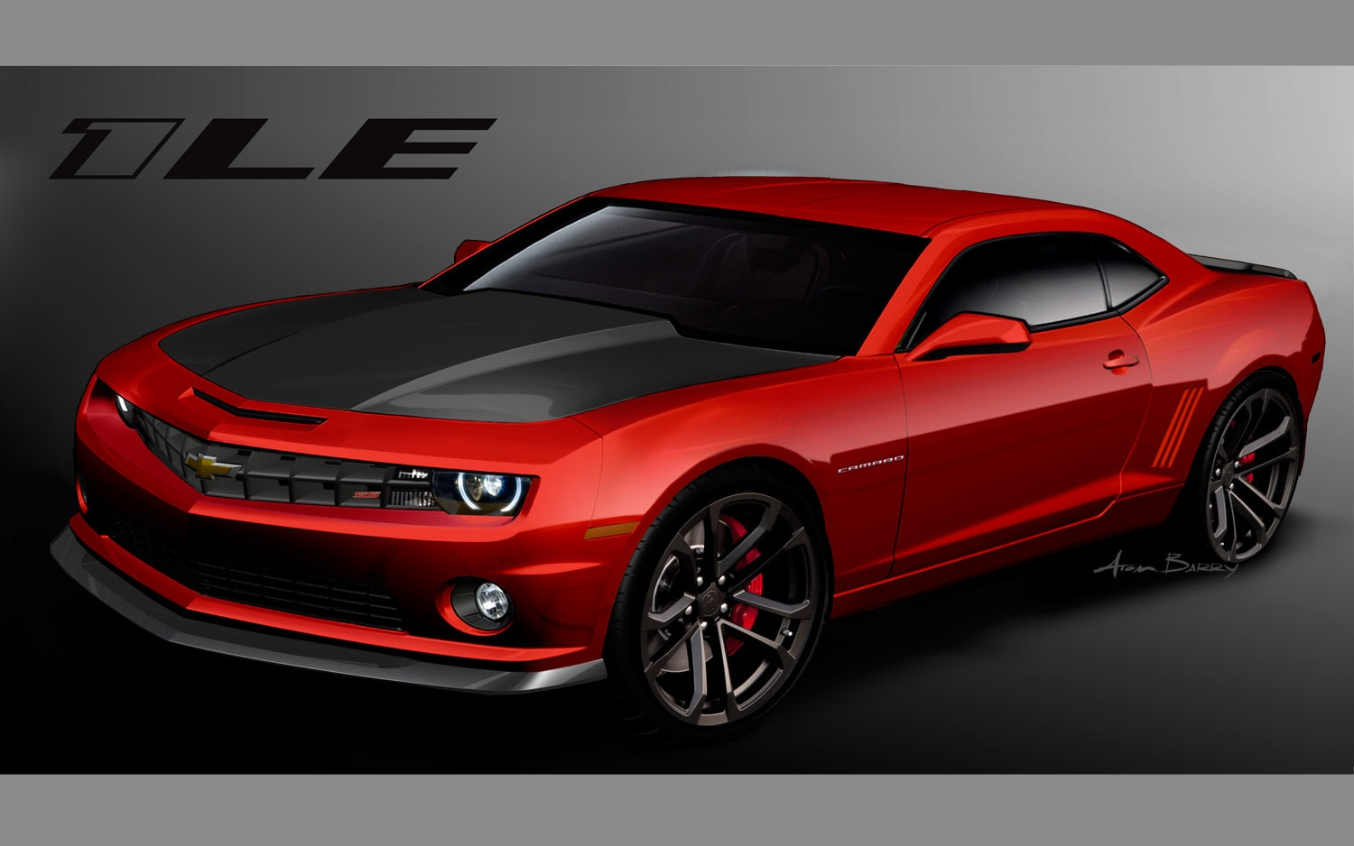 2013 Chevrolet Camaro 1L3 Rendering Front Three Quarter1