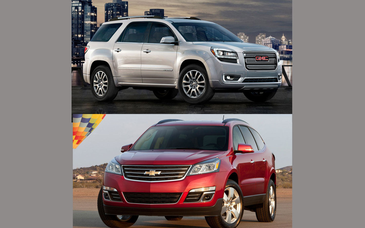 Gm Crossover Matchup 2013 Chevy Traverse Vs 2013 Gmc Acadia
