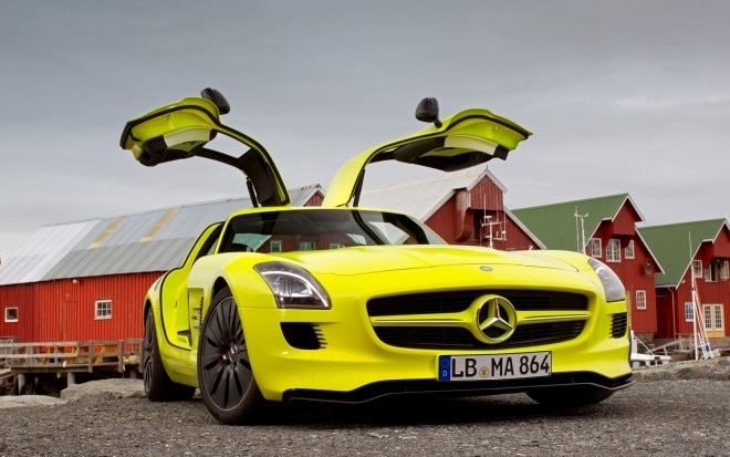 2013 Mercedes Benz SLS AMG E Cell Front Doors Open1 660x413