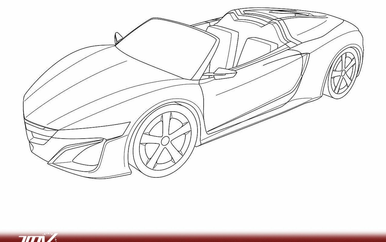 Acura NSX Spider Sketch Front Three1