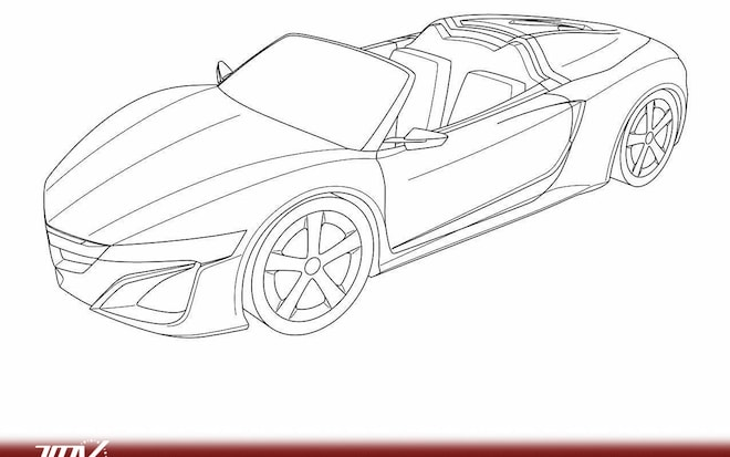 Spyder Spied? Acura NSX Roadster Sketches Found In Patent