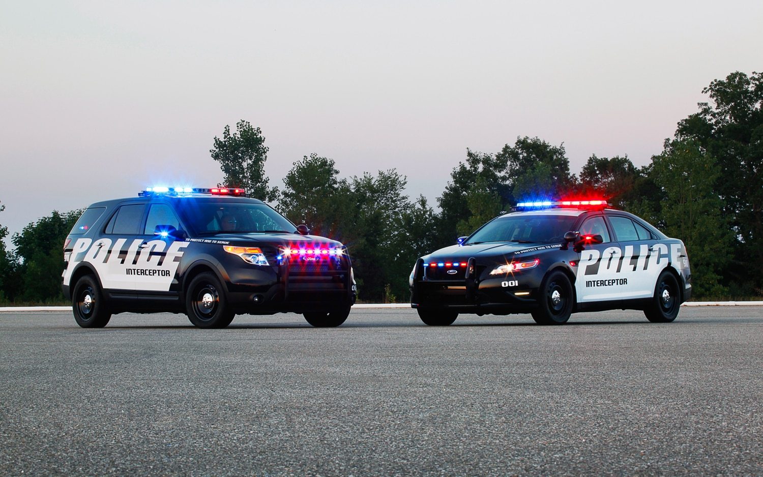 Ford Police Interceptor Vehicles Front Side View1
