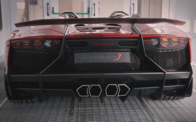Lamborghini Aventador J Rear Video 660x413