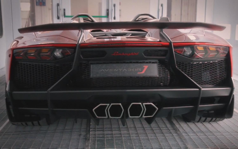Lamborghini Aventador J Rear Video