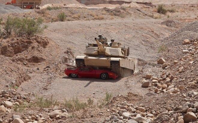 M1A2 Abrams Crushing Porsche 9281 660x413