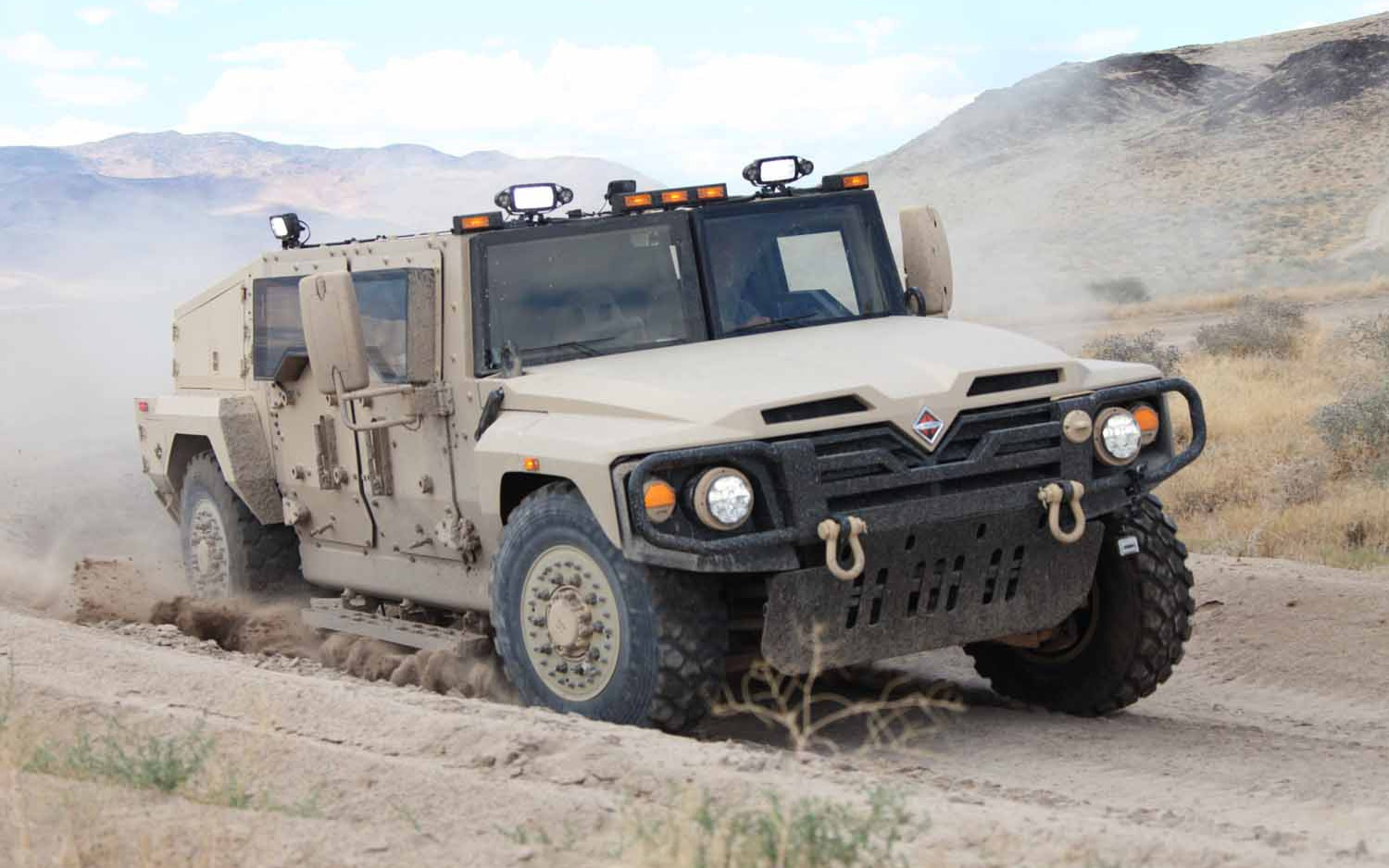 Navistar Defense Humvee Replacement Front Three Quarter Motion1