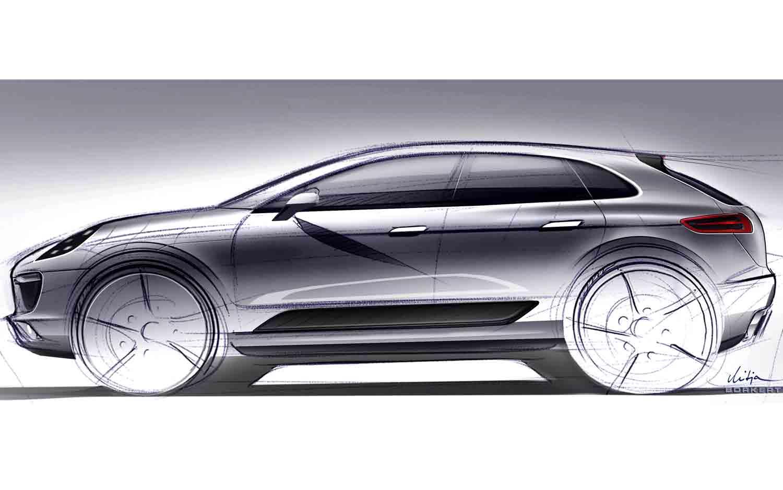 Porsche Macan Concept Sketch1