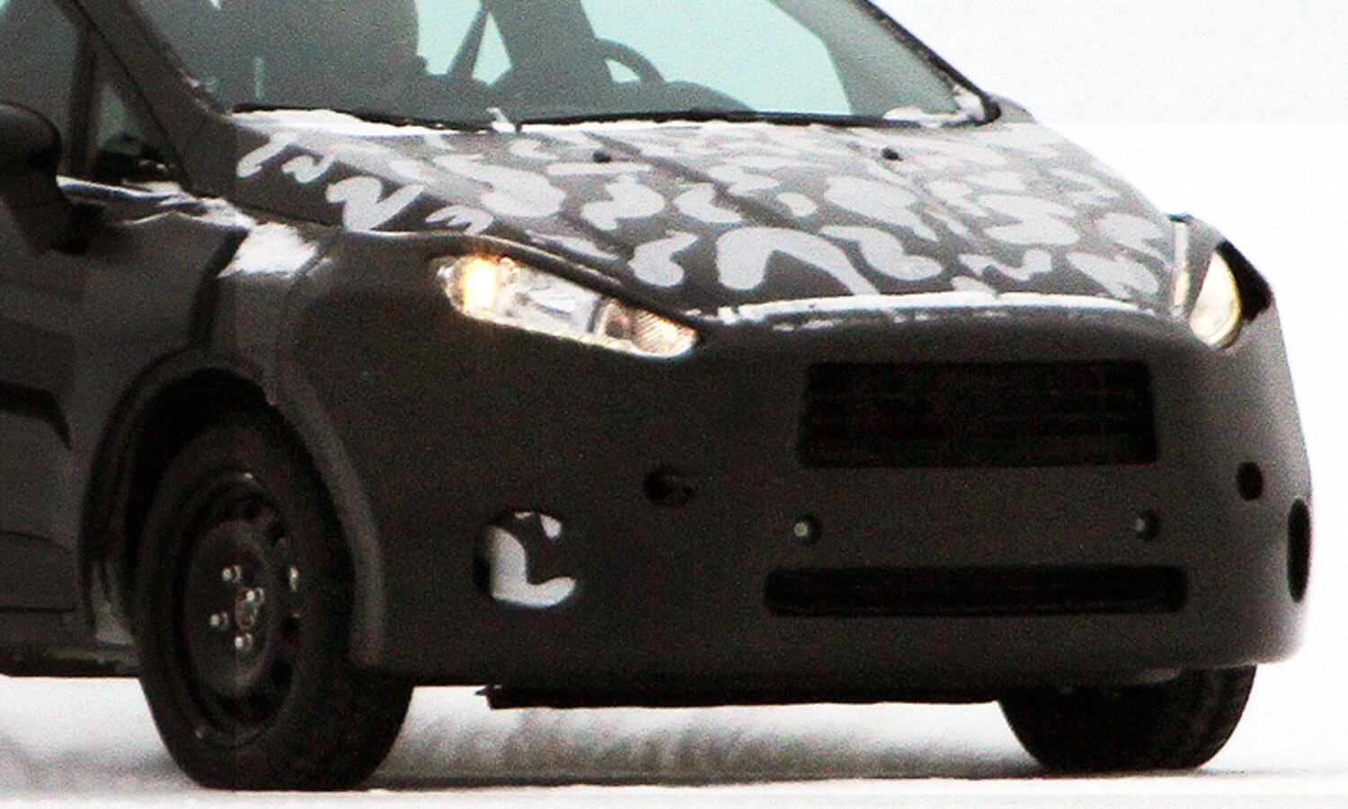 Spied Ford Fiesta Amag Unmarked