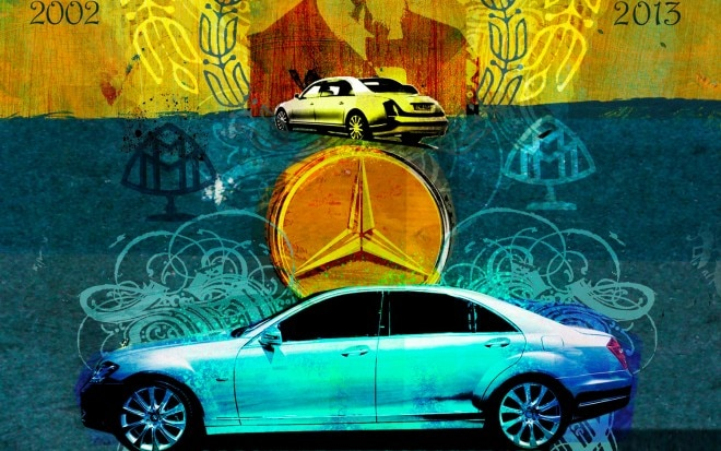 Maybach Left Side View Illustration 660x413