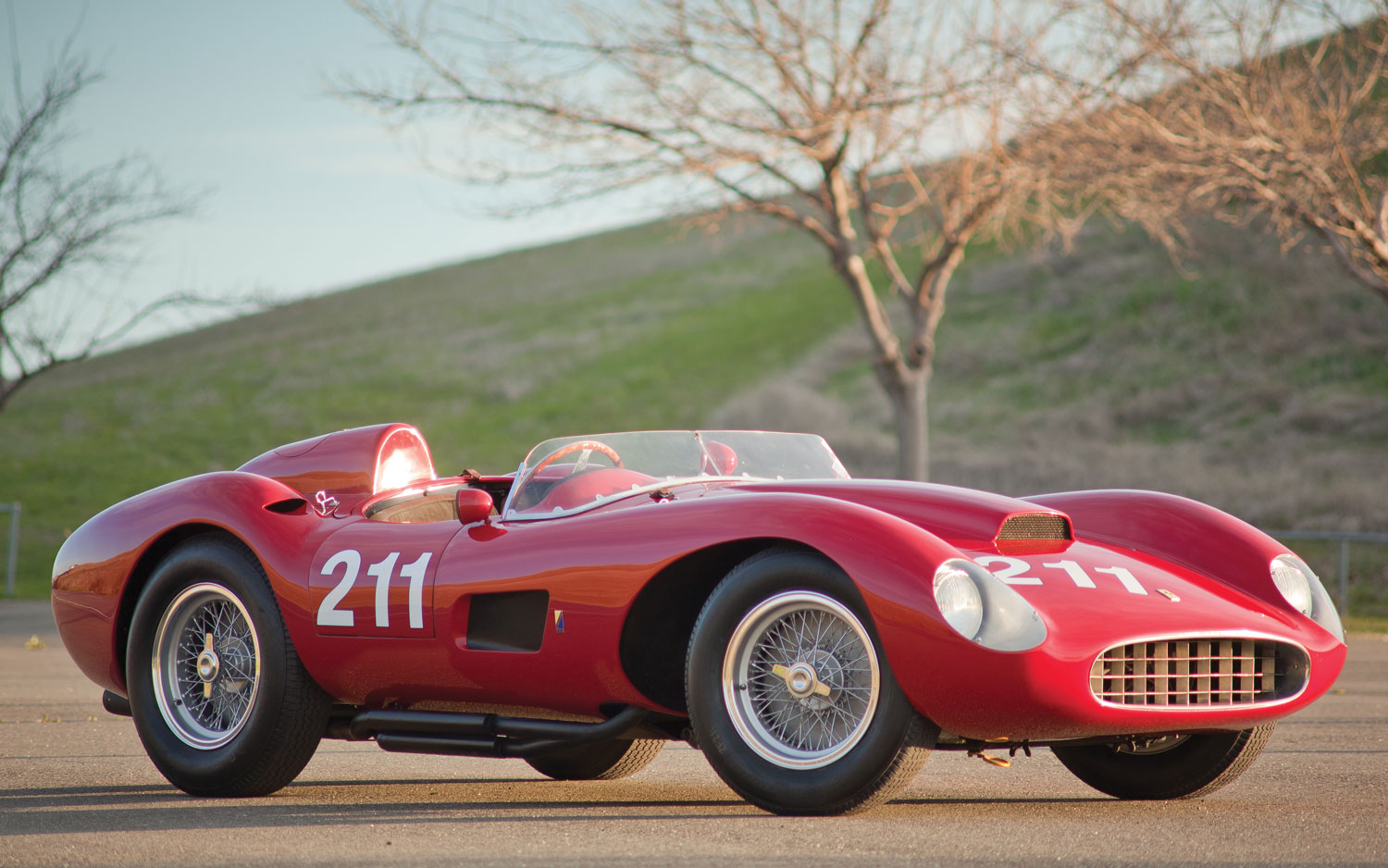 1957 Ferrari 625 TRC Spider Front Three Quarters View1