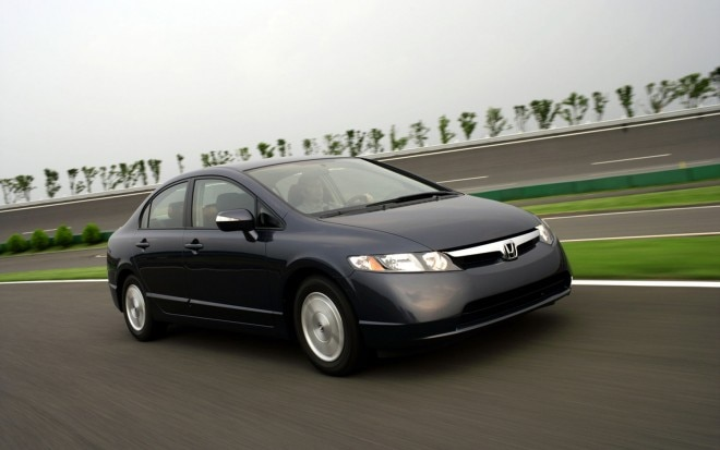 2006 Honda Civic Hybrid Right Front Three In Motion 660x413