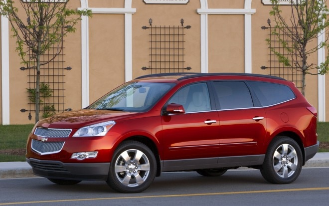 2012 Chevrolet Traverse Front Three Quarter1 660x413