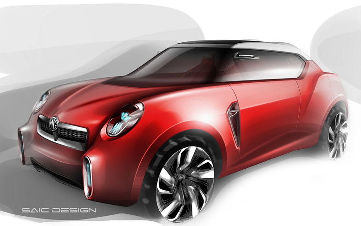 2012 MG Icon Concept Sketch Front Three Quarter1